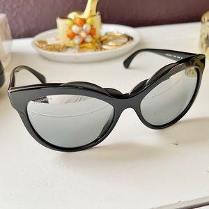 Chanel Camellia Cat Eye Sunglasses